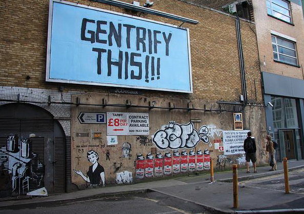 Image result for anti gentrification graffiti
