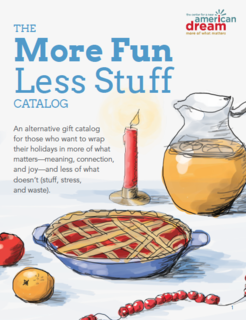 More Fun Less Stuff Gift Catalog Cover