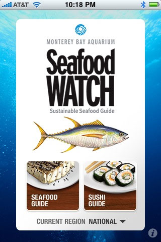 Seafood Watch I Phone App